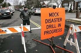 disaster drill in progress