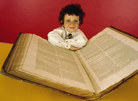Child with Dictionary